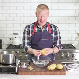 Food & Wine: How to Peel Potatoes Almost Instantly
