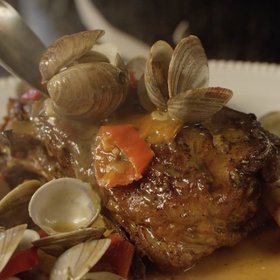 Food & Wine: Braised Lamb Shoulder with Clams, Pickled Peppers & Mint