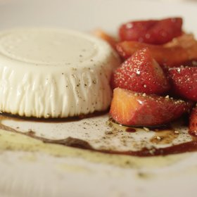 Food & Wine: Bay Leaf Panna Cotta, Strawberries, Balsamic & Black Pepper