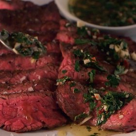 Food & Wine: Mark Bittmans Grilled Skirt Steak with Chimichurri Sauce