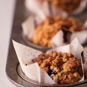 Food & Wine: Blueberry Muffins with Crumb Topping