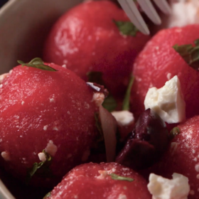 Food & Wine: Watermelon Salad with Feta and Mint