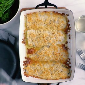Food & Wine: Baked Flounder with Parmesan Crumbs