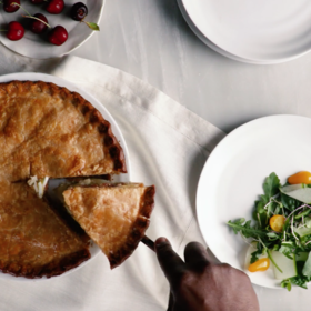 mkgalleryamp; Wine: Potato And Egg Pie With Bacon And Crème Fraîche
