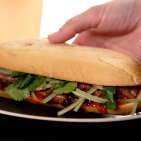 mkgalleryamp; Wine: Grilled-Pork Banh Mi
