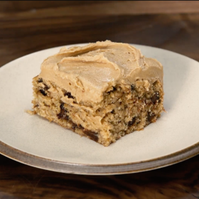 Food & Wine: Banana–Chocolate Chip Snack Cake with Salted Peanut Butter Frosting