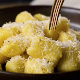 Food & Wine: Potato Gnocchi with Butter and Cheese