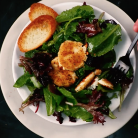 Food & Wine: Baked Goat Cheese Salad