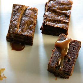 Food & Wine: Cannabis-Infused Salted Caramel Fudge Brownies