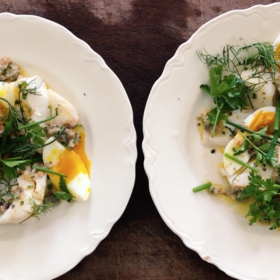 Food & Wine: Warm Cod Salad with Tarragon Sauce and Boiled Eggs