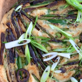 Food & Wine: Green Bean Scallion Pancake