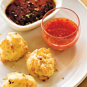 Food & Wine: Ultimate Reader Recipe Contest: Shrimp Toast Puffs with Two Sauces