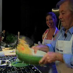 Food & Wine: Jacques and Claudine Pépin: Penne with Fresh Tomato and Anchovy Sauce