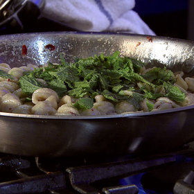 Food & Wine: Michael Symon: Orecchiette with White Anchovies and Mint