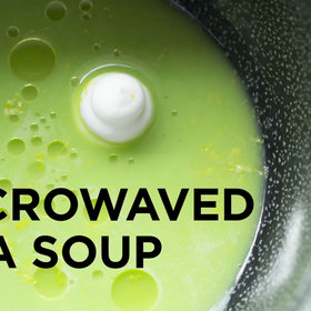 Food & Wine: ChefSteps: Microwaved Pea Soup