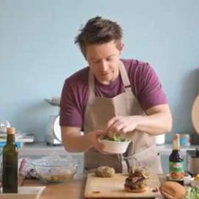 Food & Wine: Richard Blais: Veggie Burgers with Pomegranate Ketchup