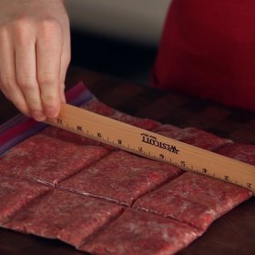 Food & Wine: How to Pre-Portion Ground Meat for the Freezer