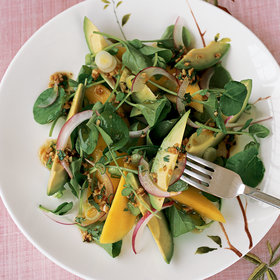 Food & Wine: Watercress and Mango Salad with Ginger Dressing