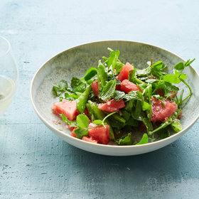 Food & Wine: Watermelon and Snap Pea Salad with Mint