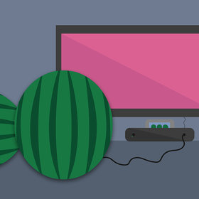 Food & Wine: You Have to Slap an Actual Watermelon to Play This Video Game