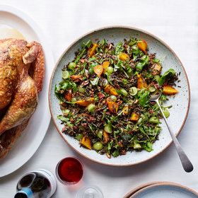 Food & Wine: Wild Rice Salad with Beets, Grapes and Pecans