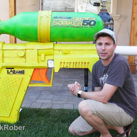 Food & Wine: World's Largest Super Soaker Can Slice Watermelons In Half