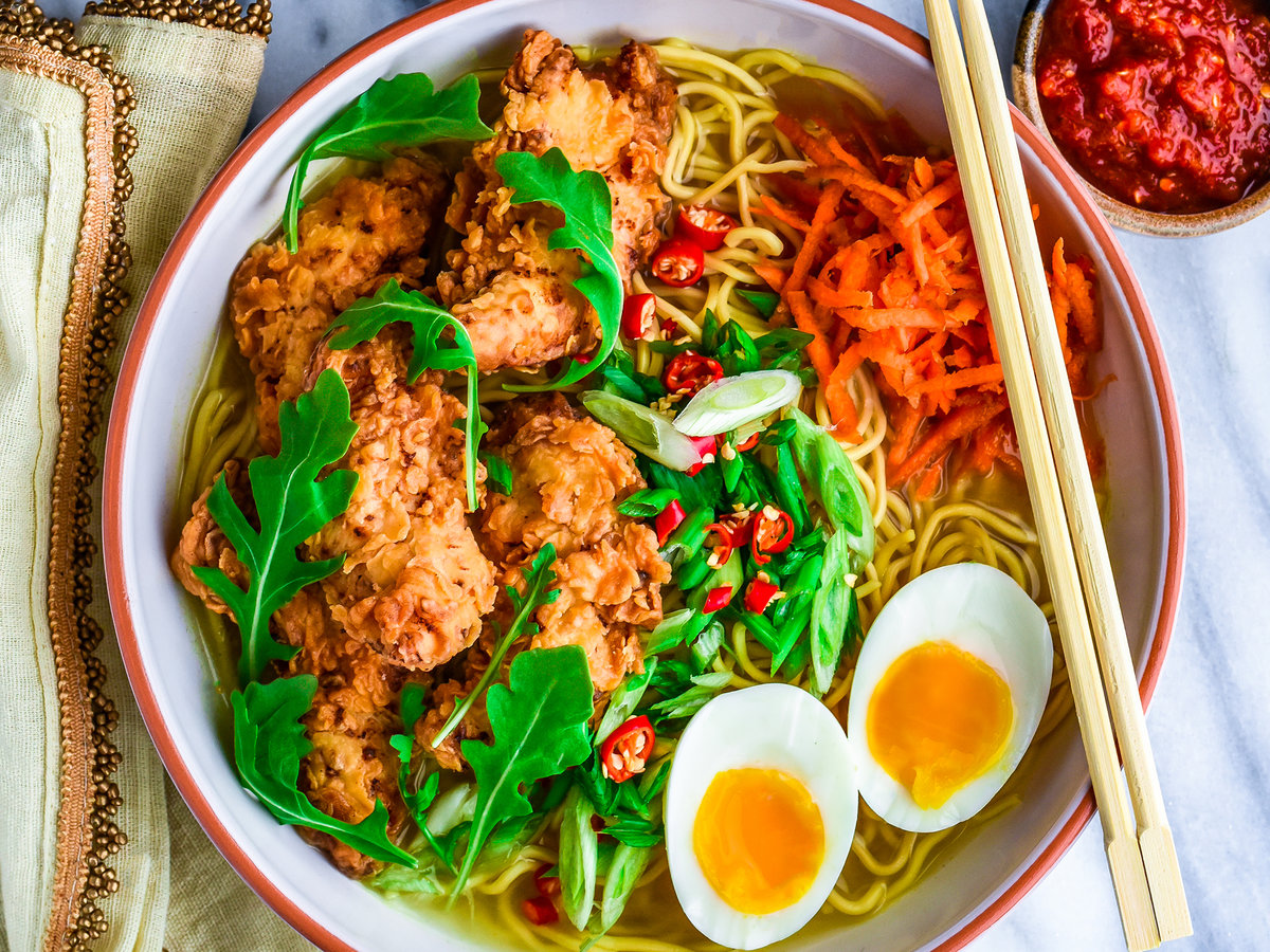 Fried Chicken Ramen, the Comforting Winter Soup You Deserve