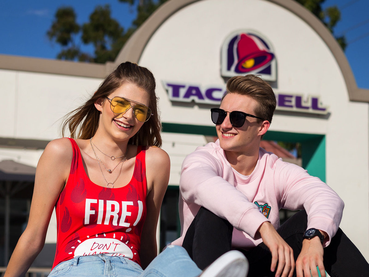 forever 21 clothes by taco bell