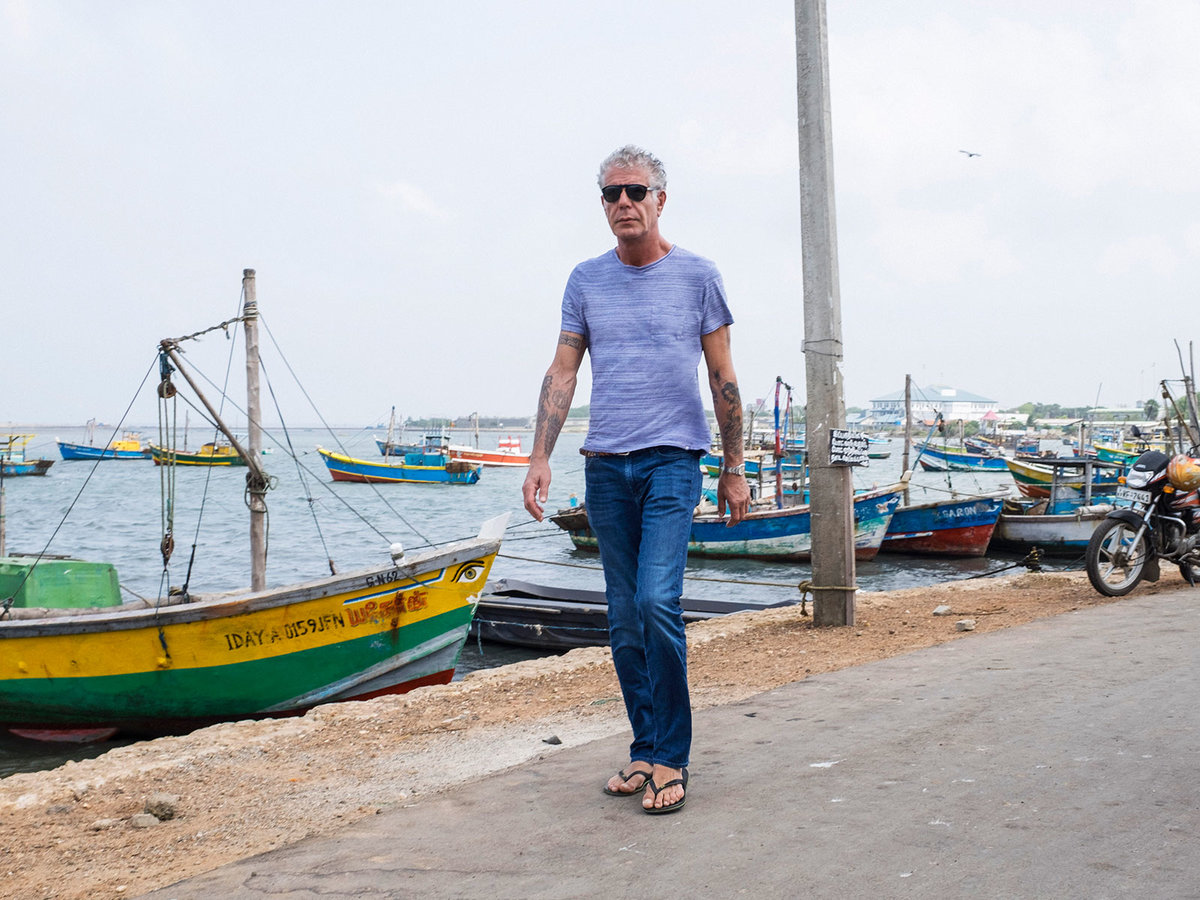 Anthony Bourdain cooking and eating in South Africa
