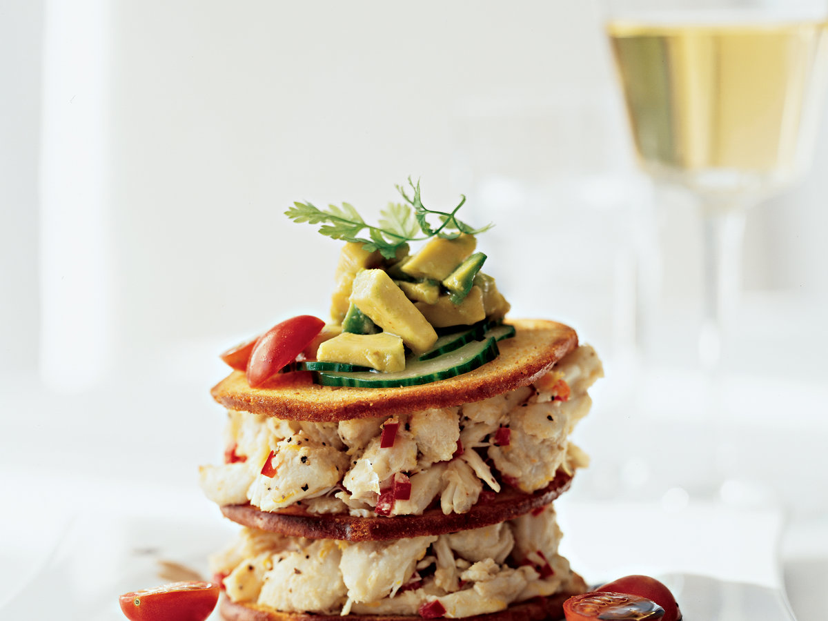 Peeky Toe Crab Napoleon Recipe - Sandro Gamba | Food & Wine