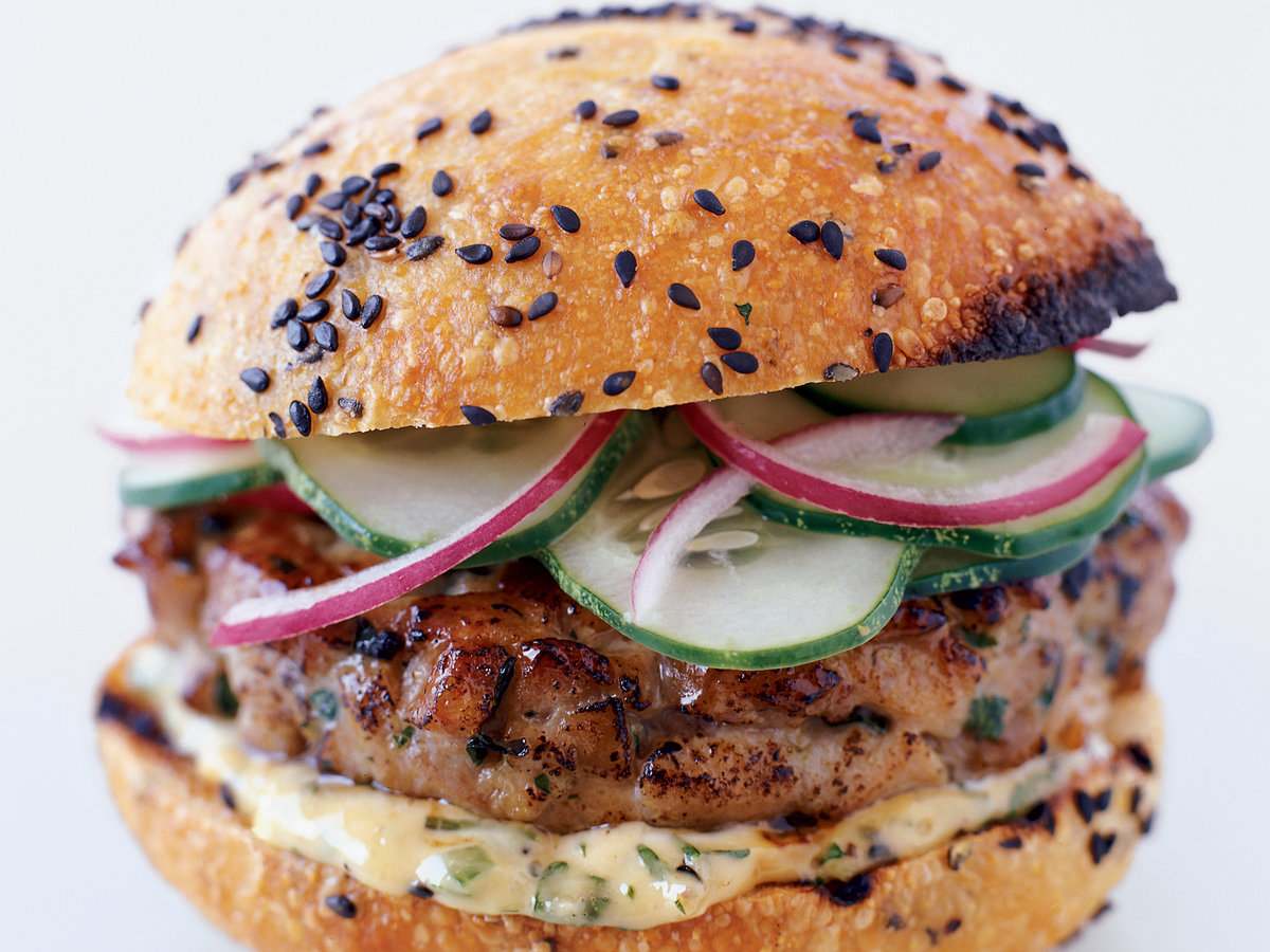 Thai Tuna Burgers with Ginger-Lemon Mayonnaise