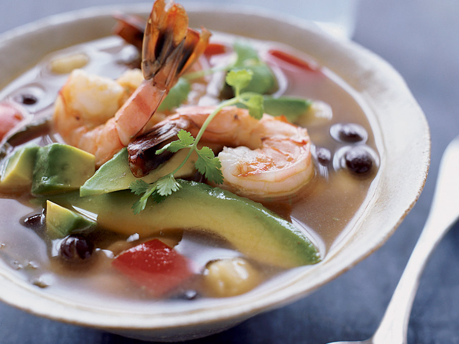 Shrimp Soup with Black Beans and Hominy Recipe - Grace ...