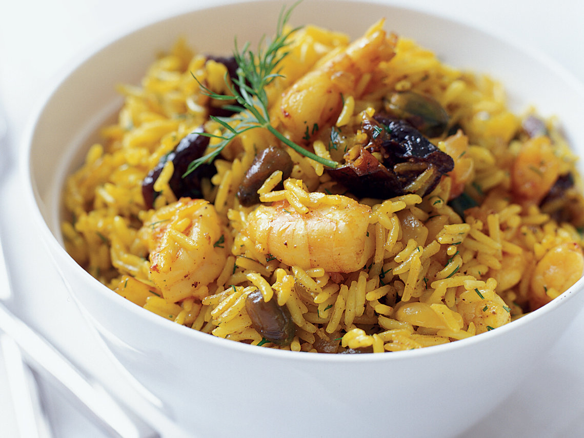 shrimp and rice pilaf indian style recipe eric ripert food wine