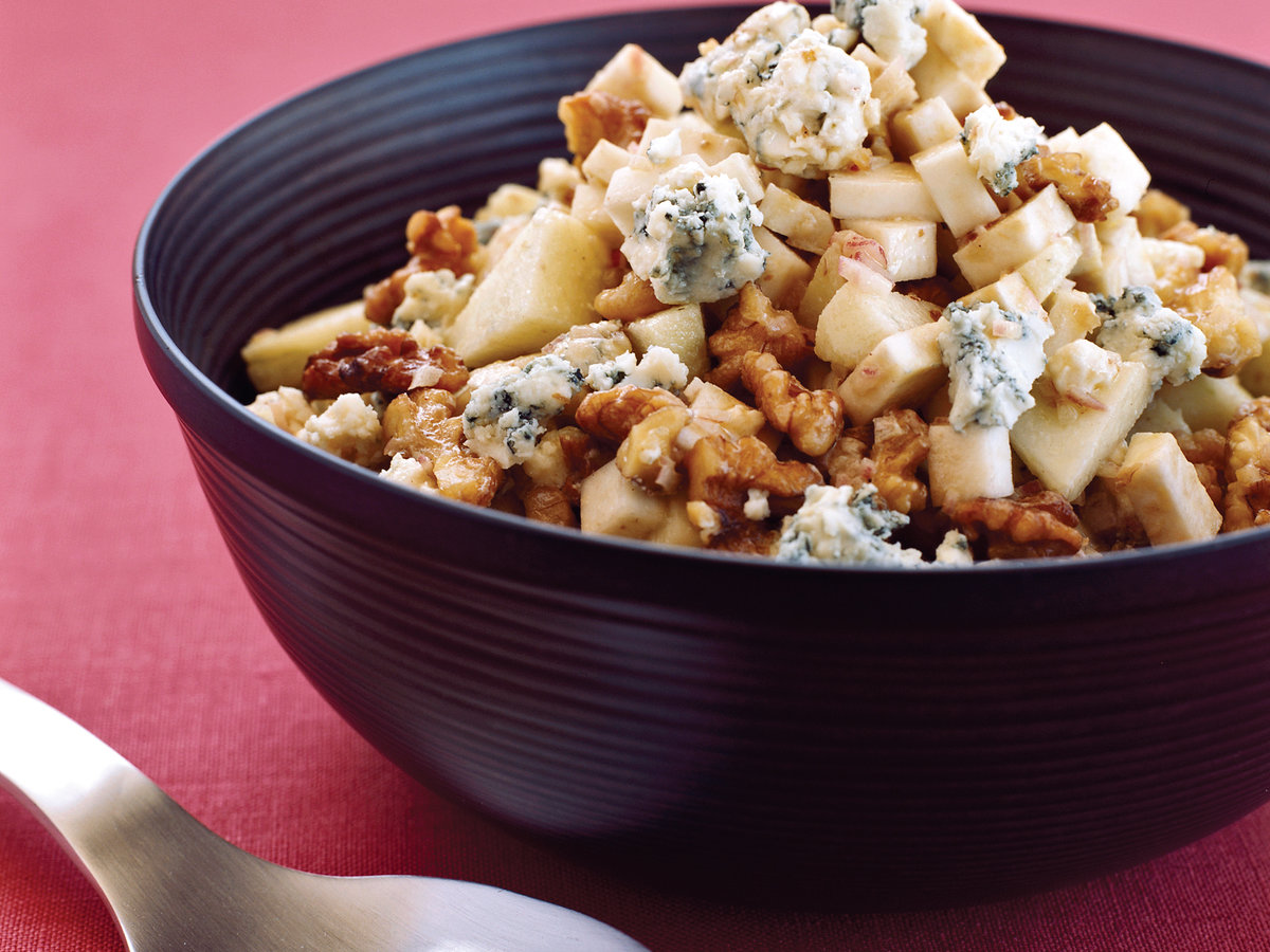 celery root with apples walnuts and blue cheese recipe maria helm