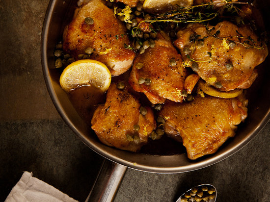 Zesty Braised Chicken with Lemon and Capers Recipe - Grace ...