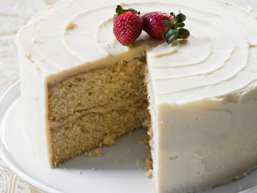 Yellow Layer Cake with Vanilla Frosting Recipe Grace Parisi Food