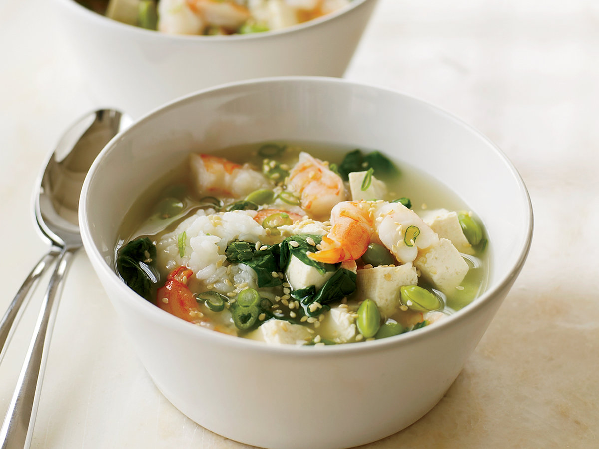 Miso soup with shrimp and tofu recipe grace parisi for Miso asian kitchen
