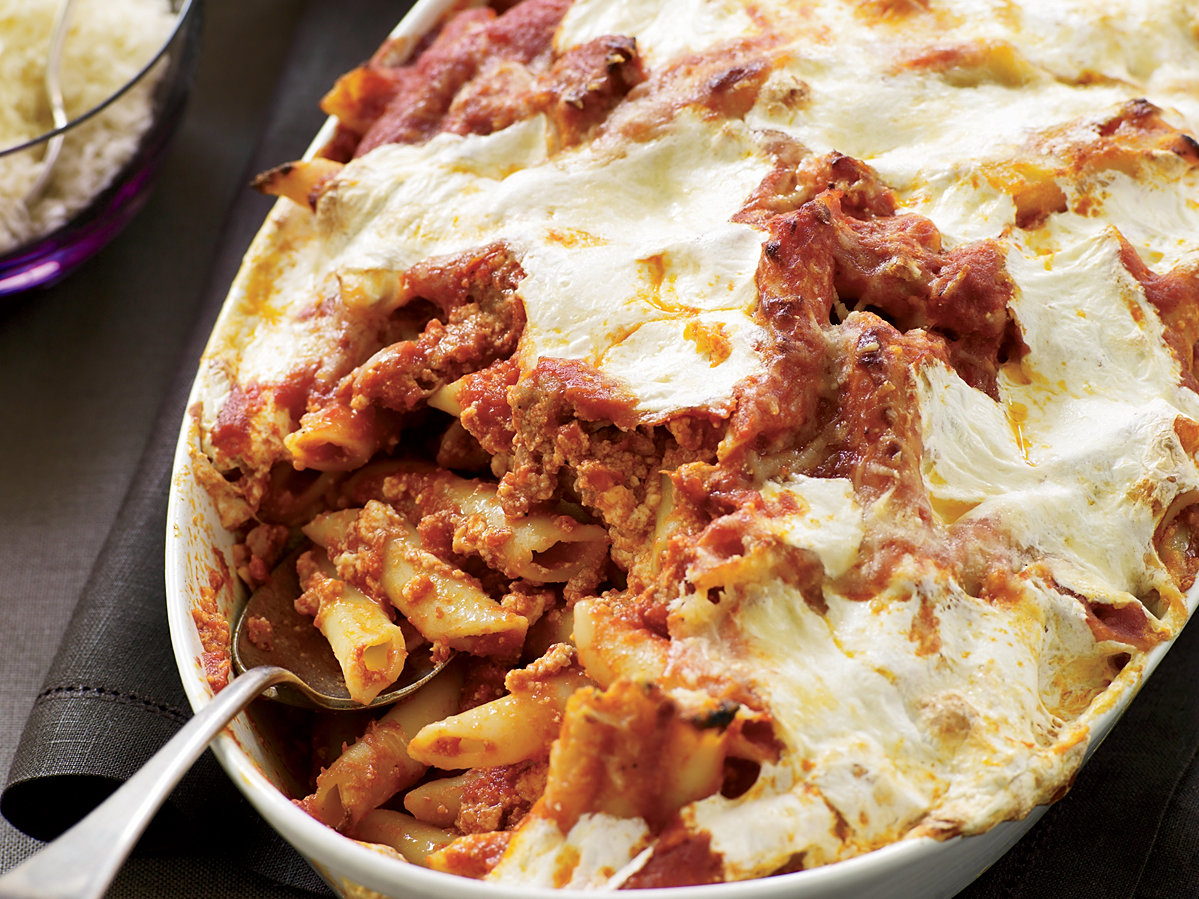 Baked Penne With Sausage And Creamy Ricotta Recipe Maria