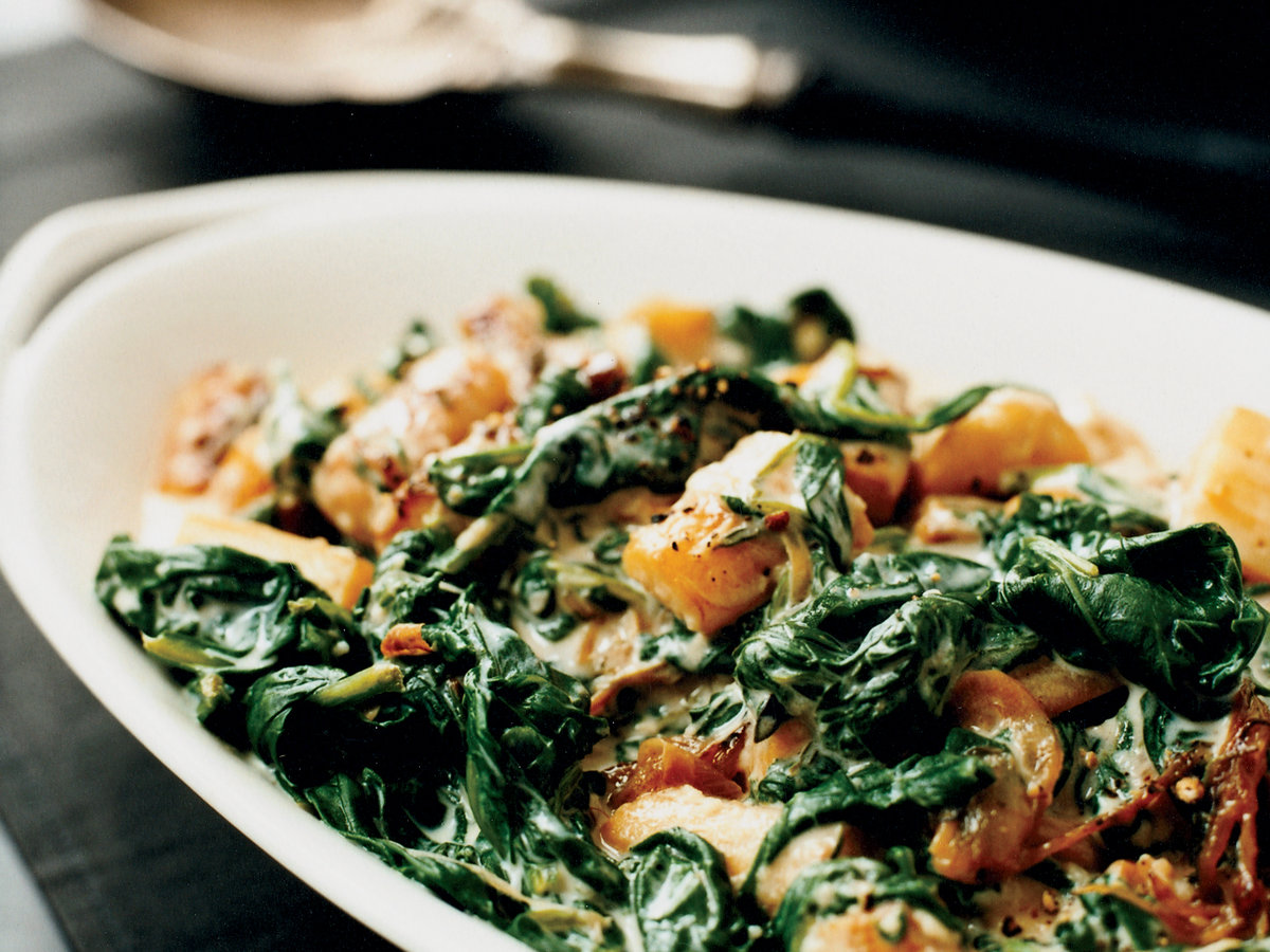 Creamed Spinach and Parsnips Recipe - Grace Parisi | Food ...