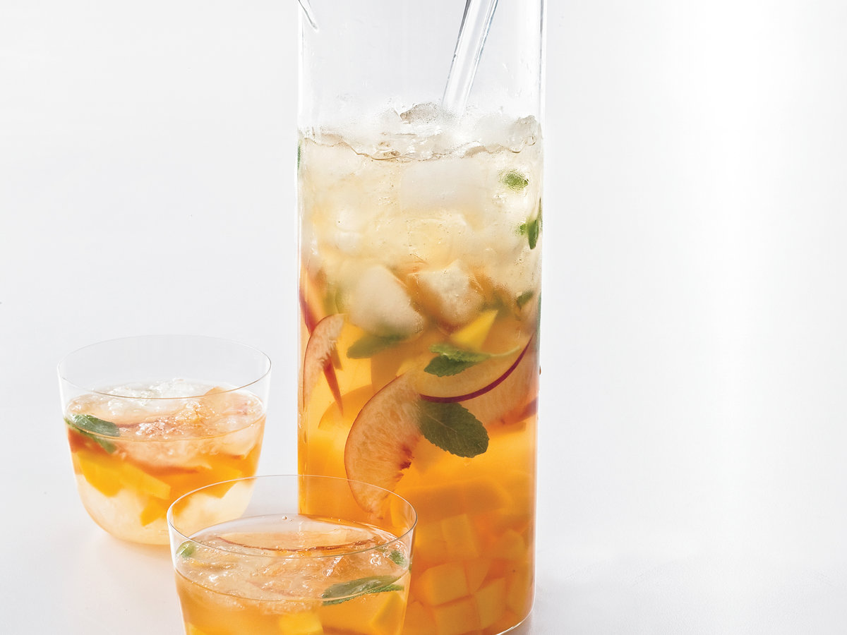 Mango Peach Sangria Recipe By Quentin Bacon From Food Wine
