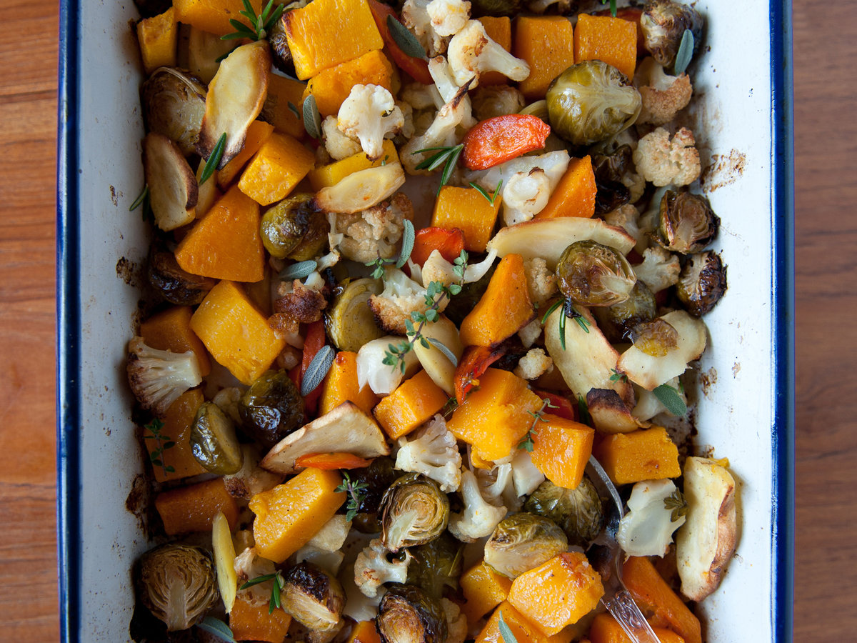 Roasted vegetables with fresh herbs recipe melissa rubel jacobson roasted vegetables with fresh herbs recipe melissa rubel jacobson food wine forumfinder Image collections