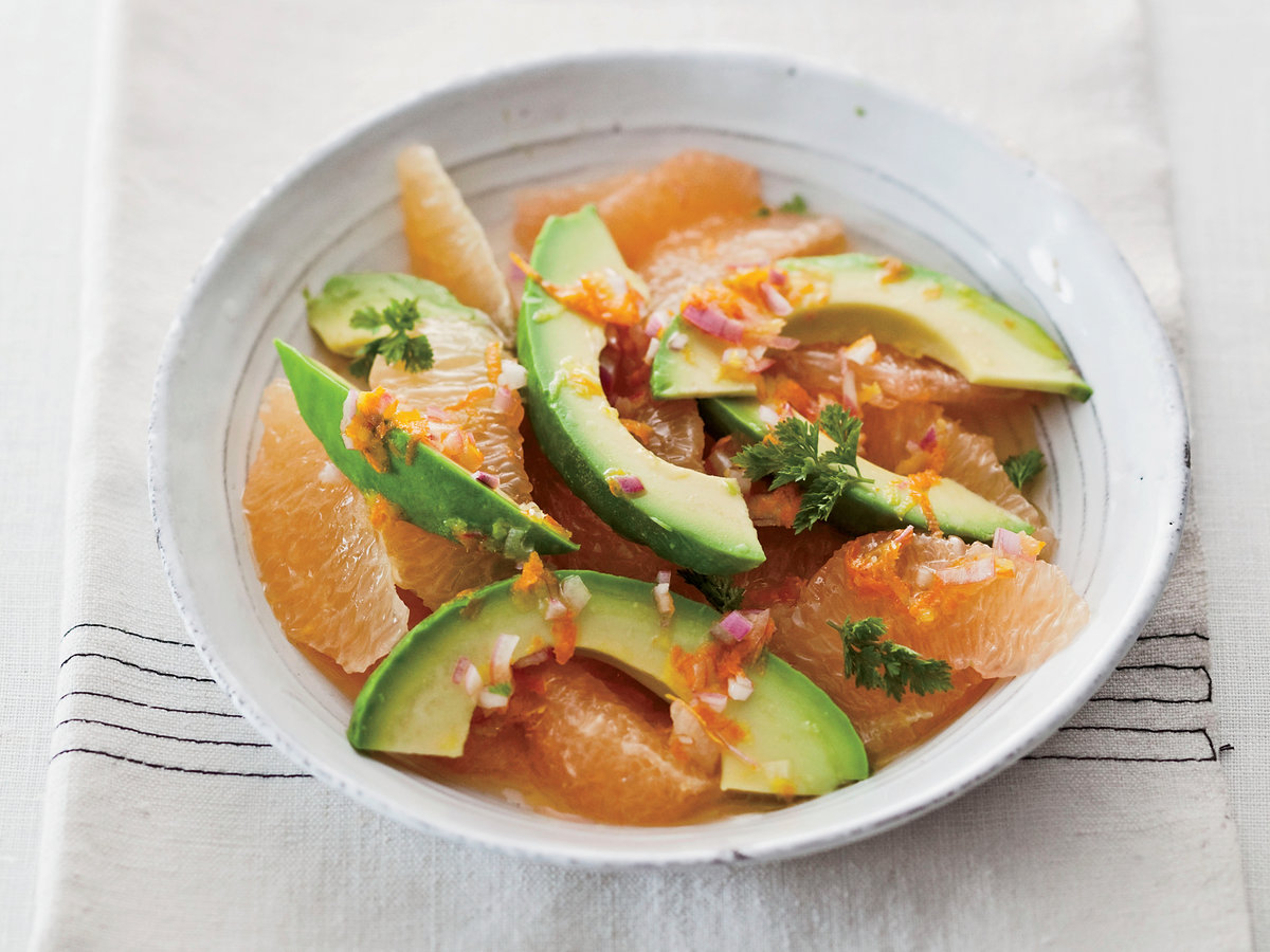 Day 23: Pink-Grapefruit-and-Avocado Salad