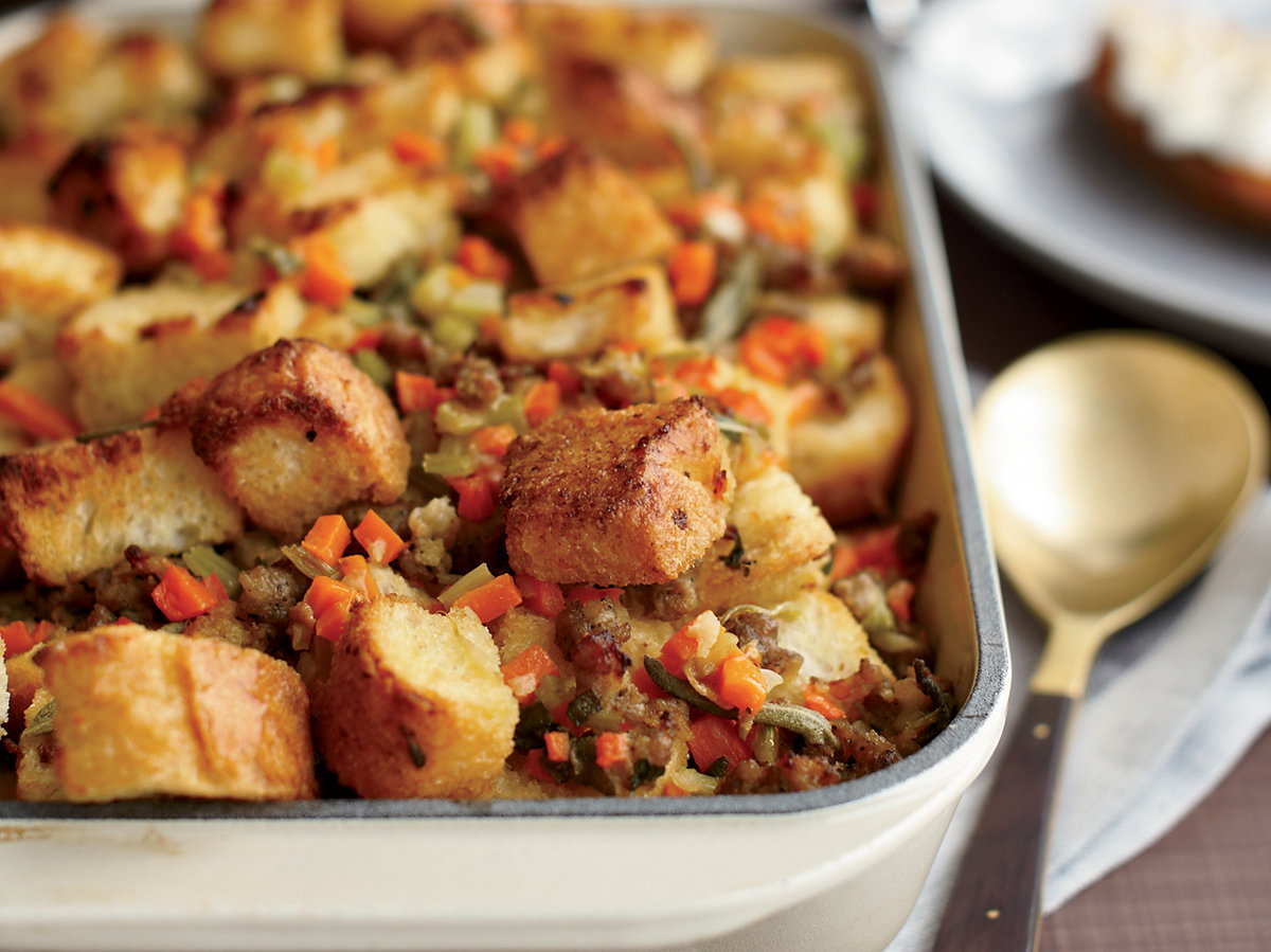 Sausage-and-Bread Stuffing Recipe - Grace Parisi | Food & Wine