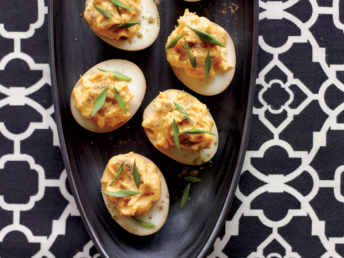 <p>Sriracha-and-Wasabi Deviled Eggs </p>