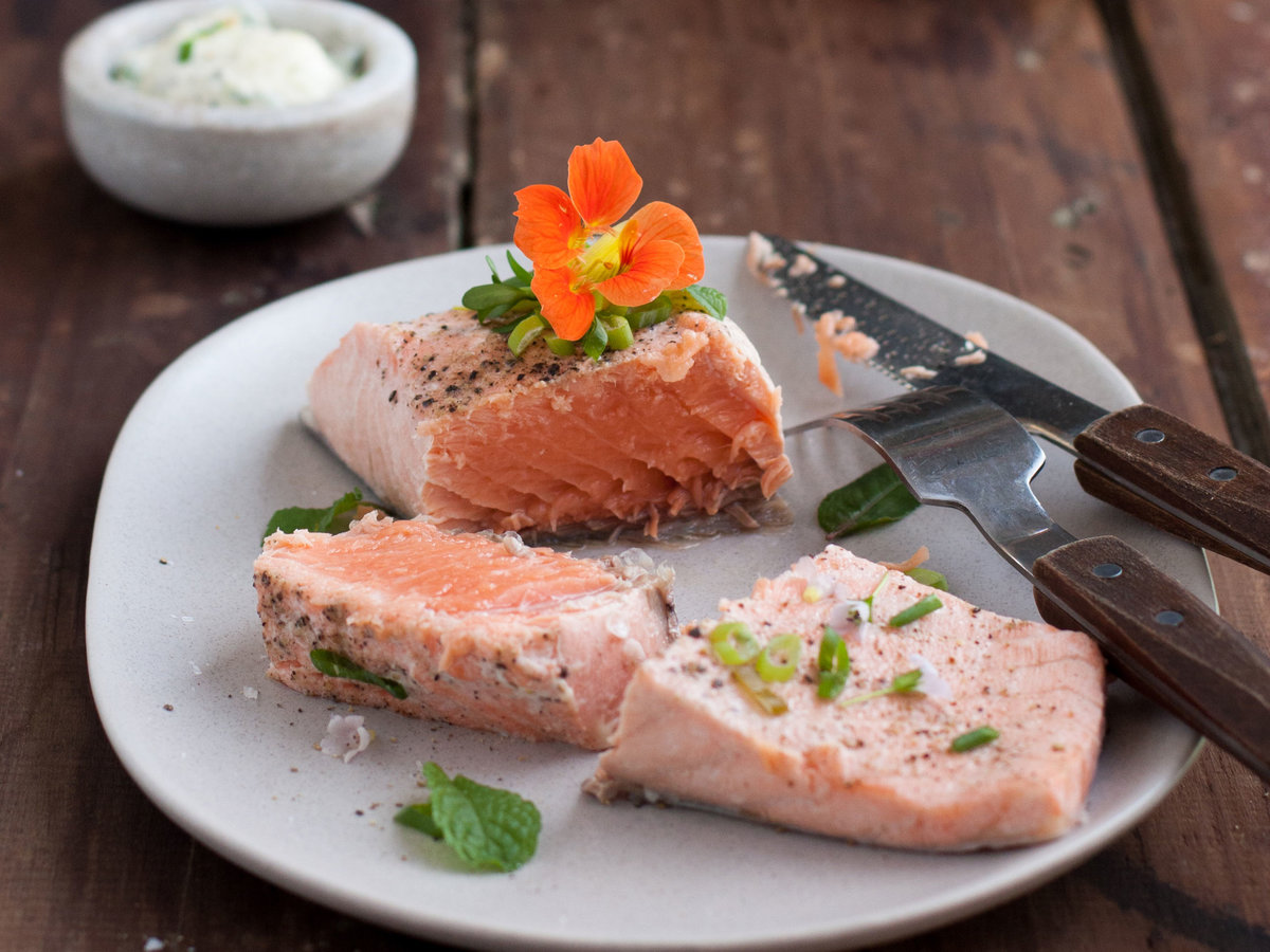Poached Salmon PLUS picture