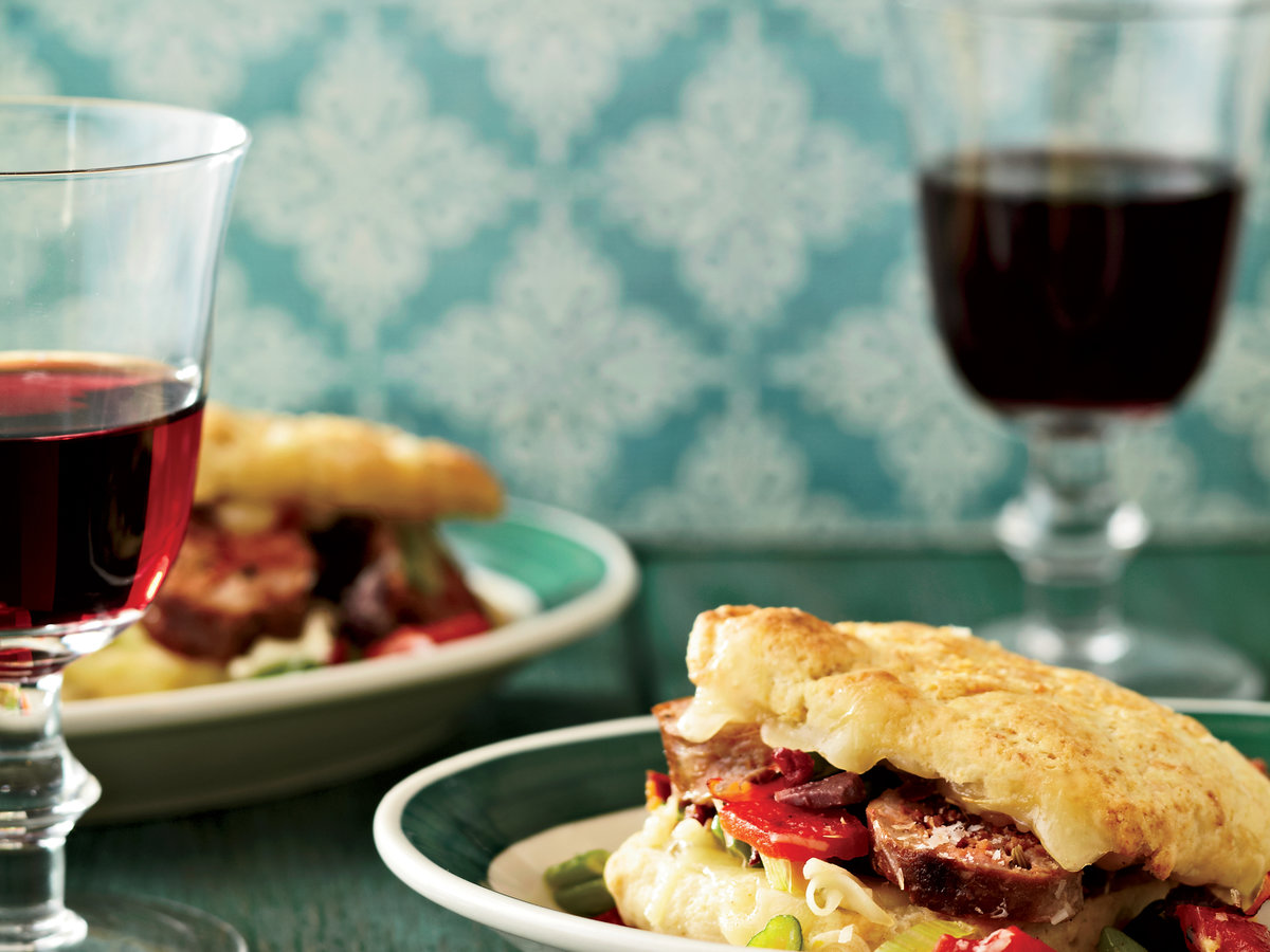 Italian Sausage-and-Fontina Biscuit Sandwiches Recipe - Marcia ...