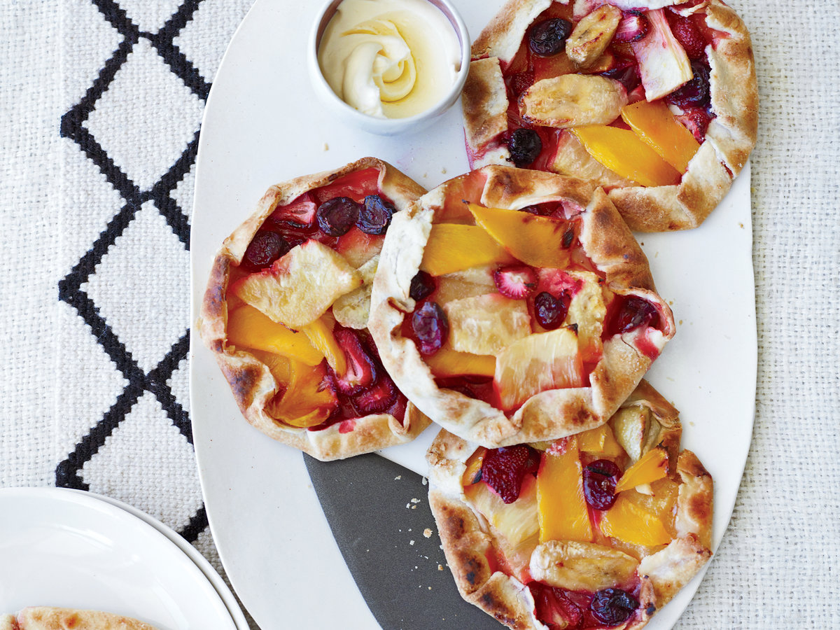 free form pineapple mango and berry tarts recipe mauricio couly