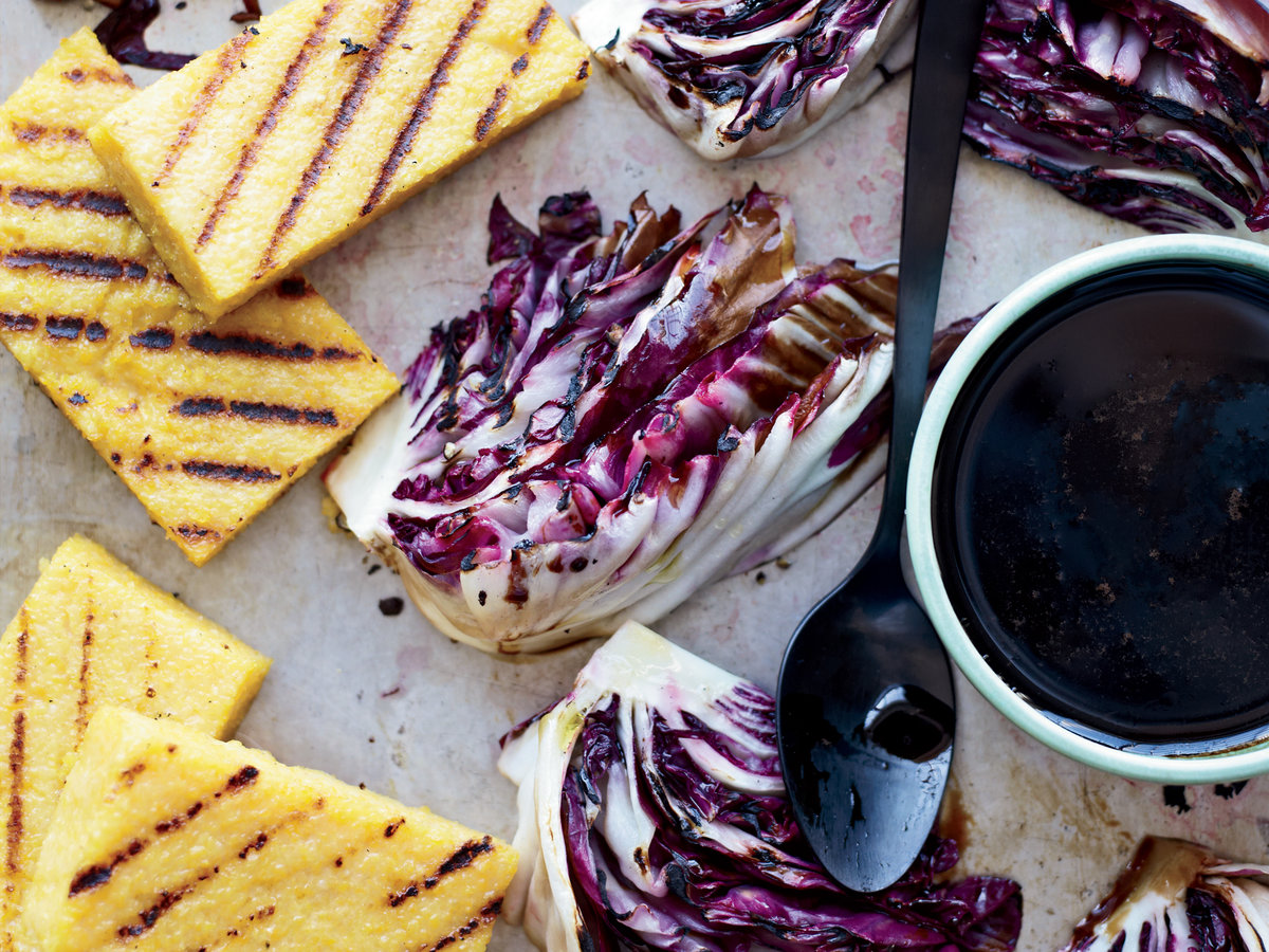 Day 17: Grilled Polenta and Radicchio with Balsamic Drizzle