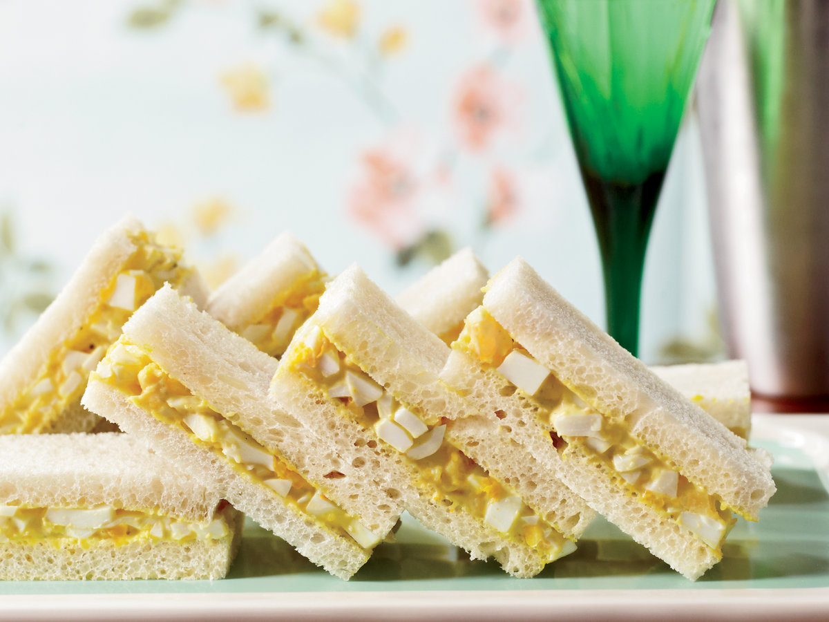 <p>Curried-Egg Tea Sandwiches</p>