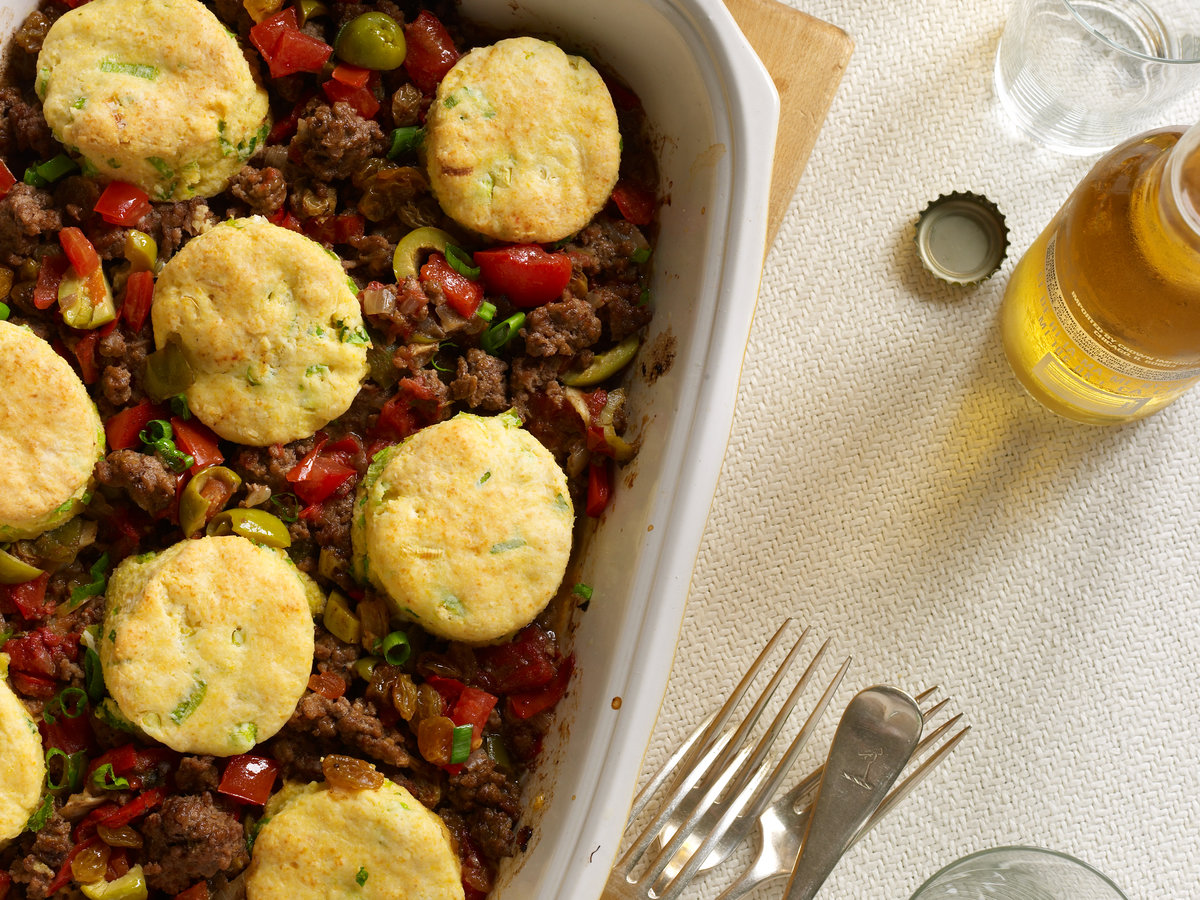 Ground beef casserole recipes with biscuit